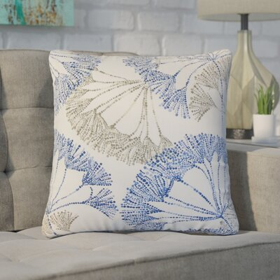 Witman Floral Cotton Throw Pillow Color: Blue