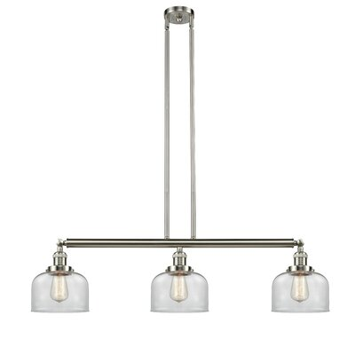 Brainerd 3-Light Kitchen Island Pendant Finish: Brushed Satin Nickel