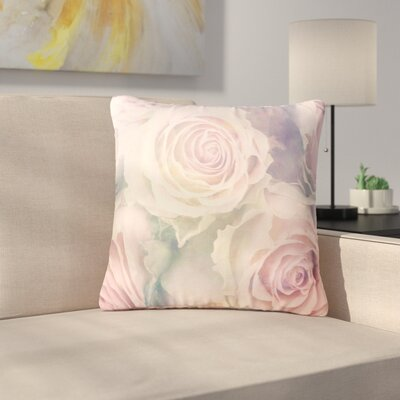 Suzanne Carter Faded Beauty Blush Floral Outdoor Throw Pillow Size: 18 H x 18 W x 5 D