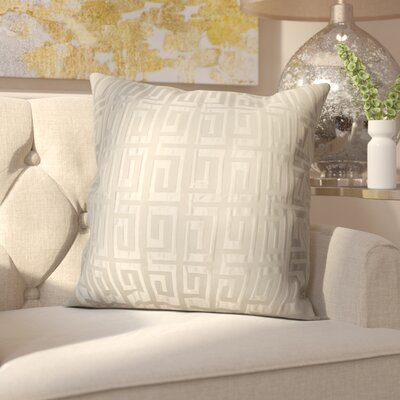 Roles Crystal Woven Decorative Pillow Cover Color: White