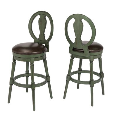 Hasse 29 Swivel Bar Stool Frame Color: Green