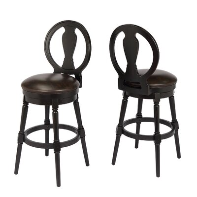 Hasse 29 Swivel Bar Stool Frame Color: Black