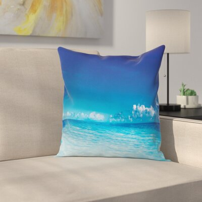 Ocean Beach Scenery Square Pillow Cover Size: 18 x 18