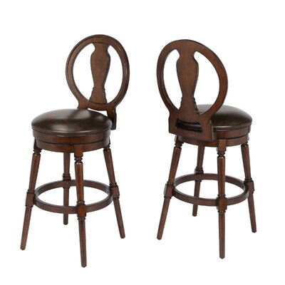 Hasse 29 Swivel Bar Stool Frame Color: Walnut
