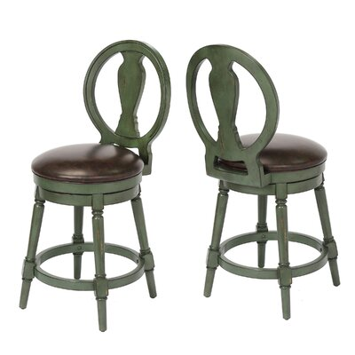 Hasse 24 Swivel Bar Stool Frame Color: Green