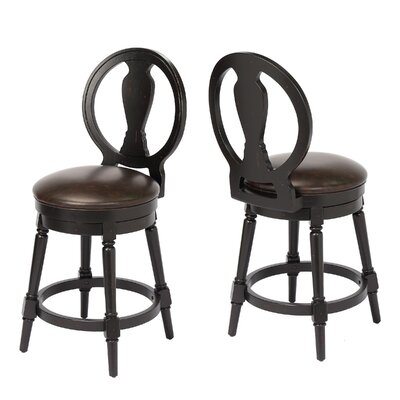 Hasse 24 Swivel Bar Stool Frame Color: Black