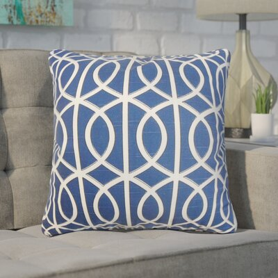 Nusbaum Geometric Cotton Throw Pillow Color: Blue