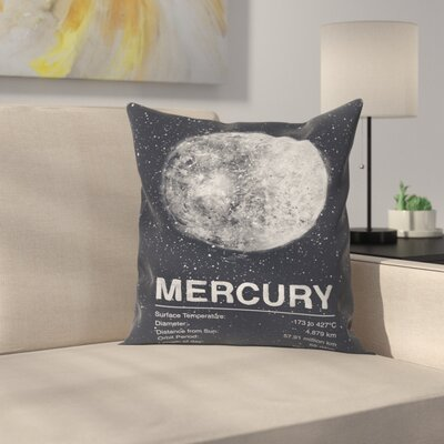 Tracie Andrews Mercury Throw Pillow Size: 16 x 16