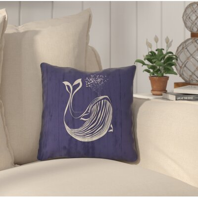 Lauryn Whale Throw Pillow with Zipper Size: 18 x 18