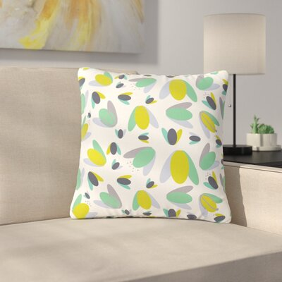 Love Midge 1970s Floral Geometric Abstract Outdoor Throw Pillow Size: 18 H x 18 W x 5 D