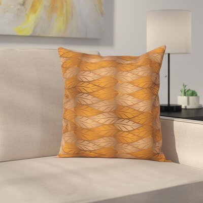 Artistic Autumn Square Pillow Cover Size: 16 x 16