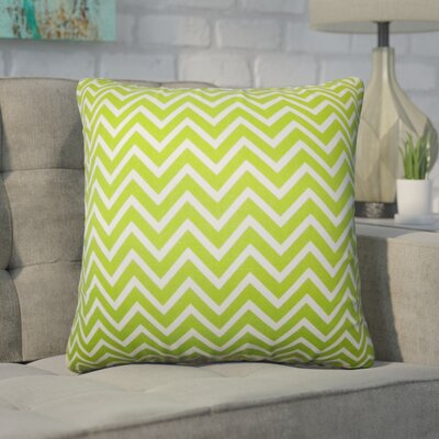 Creason Zigzag Cotton Throw Pillow Color: Chartreuse