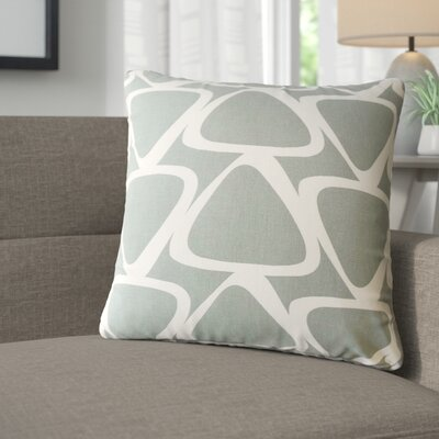 Cherish Geometric Cotton Throw Pillow Color: Gray