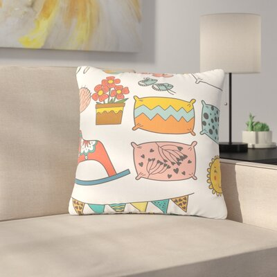 Petit Griffin Room Outdoor Throw Pillow Size: 16 H x 16 W x 5 D
