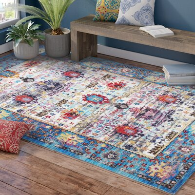 Arnots Blue Area Rug Rug Size: Rectangle 710 x 1010