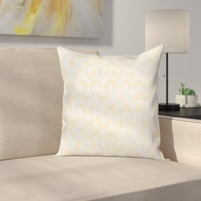 Ikat Style Tile Square Cushion Pillow Cover Size: 16 x 16