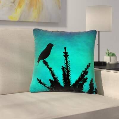 Sylvia Coomes Bird Silhouette Outdoor Throw Pillow Size: 16 H x 16 W x 5 D