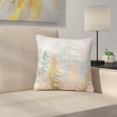 Iveta Abolina Blush Forest Throw Pillow Size: 16 x 16