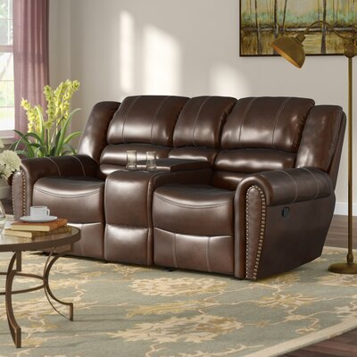 Medici Reclining Sofa Upholstery: Brown