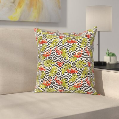 Geometric Vintage Autumn Square Pillow Cover Size: 18 x 18