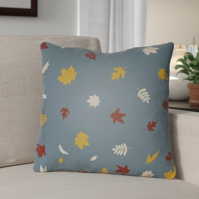 Falling Leaves Indoor/Outdoor Throw Pillow Size: 20 H x 20 W x 4 D, Color: Blue/Yellow/White