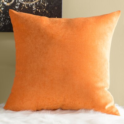 Edwards Throw Pillow Size: Large, Color: Orange