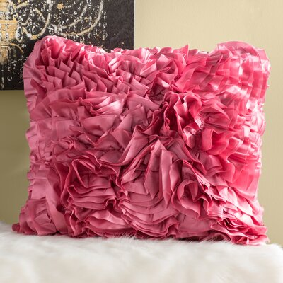 Shields Throw Pillow Size: 22 H x 22 W x 4 D, Color: Bright Pink