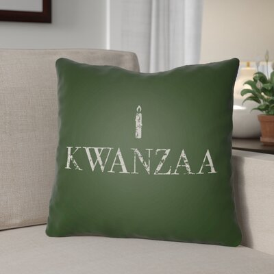 Kwanzaa Indoor/Outdoor Throw Pillow Size: 18 H x 18 W x 4 D, Color: Green