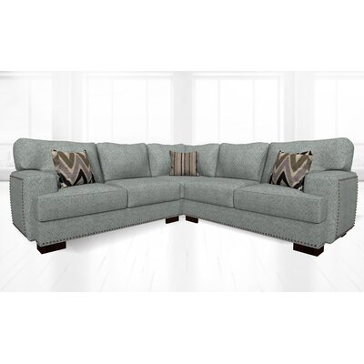 Jhon Sectional Upholstery: Attic Gray
