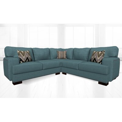 Jhon Sectional Upholstery: Conquest Aqua