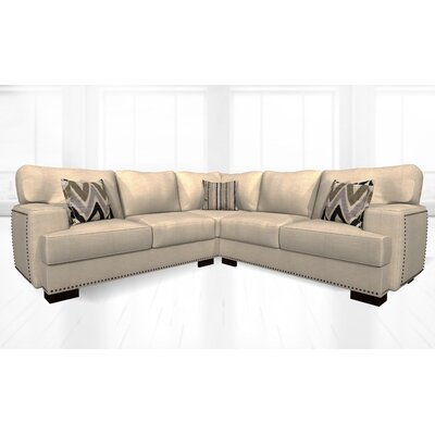 Jhon Sectional Upholstery: Luxor Pearl