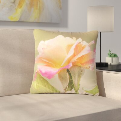 Sylvia Coomes Rose in Full Bloom Floral Outdoor Throw Pillow Size: 18 H x 18 W x 5 D