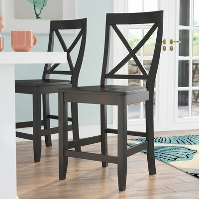 Delaine 24 Bar Stool Color: Black