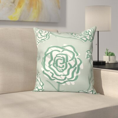 Aletha Spring Floral 2 Print Throw Pillow Size: 16 H x 16 W, Color: Green