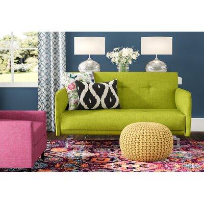 Dwayne Modern Loveseat Upholstery: Green