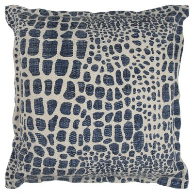 Cotton Throw Pillow Color: Blue