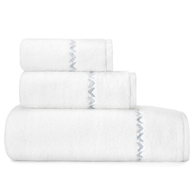 Chevron Solid Bath 3 Piece Towel Set