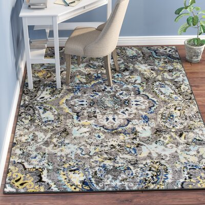 Stoneham Gray/Silver Area Rug Rug Size: Rectangle 53 x 77
