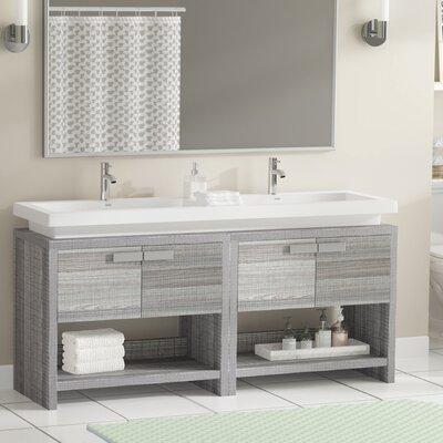 Gaynelle 63 Double Bathroom Vanity Set Base Finish: Ash Gray