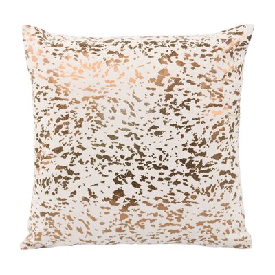 Kirsch Leather Speckled Throw Pillow