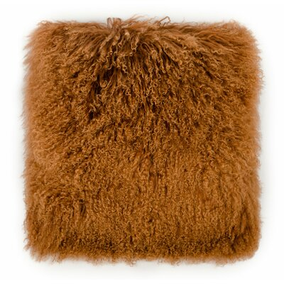 Ferrero Sheep Lumbar Pillow Color: Copper, Size: 19.75 x 19.7