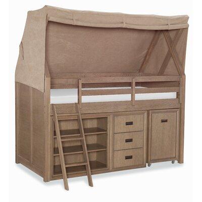 Hudson Mid Loft Twin Canopy 3 Piece Bedroom Set