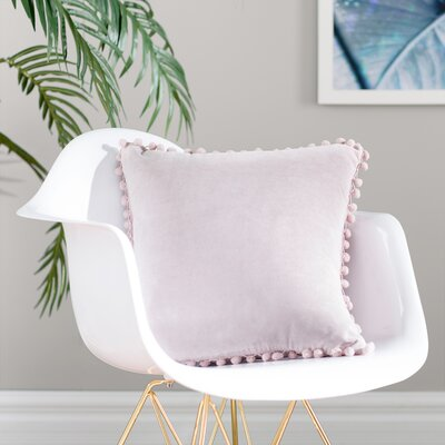 Aella Pompom Throw Pillow Color: Lilac