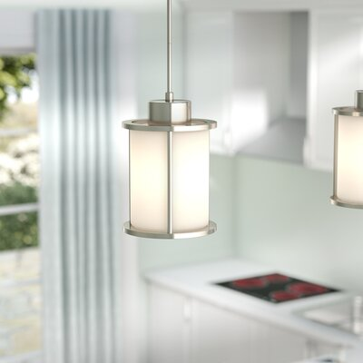 Floyd 1-Light Mini Pendant Energy Star: No, Finish: Brushed Nickel