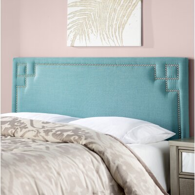 Diego Upholstered Panel Headboard Size: Queen, Upholstery Color: Laguna