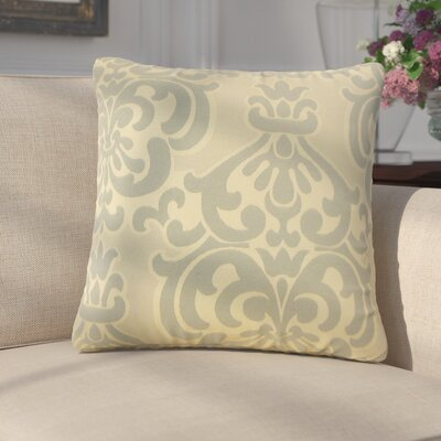 Anatolio Damask Cotton Throw Pillow Color: Ivory
