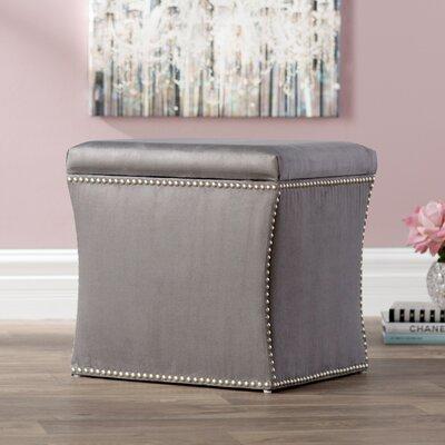 Garnett Nail Button Storage Ottoman Upholstery: Premier Charcoal