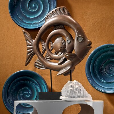 Concentric Tropical Ocean Fish Figurine QS918072