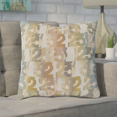 Detweiler Linen Throw Pillow Size: 22 H x 22 W x 4 D, Color: Tan, Filler: Down