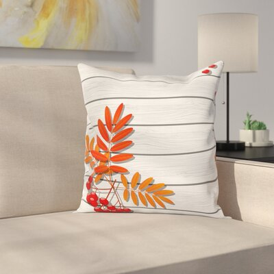 Freshness Growth Ecology Square Pillow Cover Size: 16 x 16